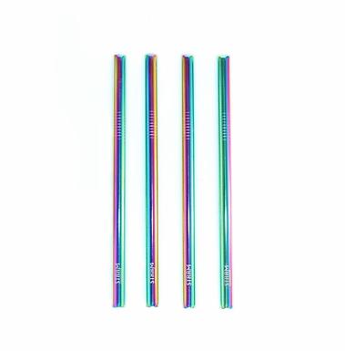 Rainbow Smoothie Straws Kit