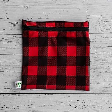 Reusable Sandwich Bag - Plaid (Red)