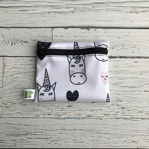 Reusable Mini Snack Bag - Unicorn & Hearts