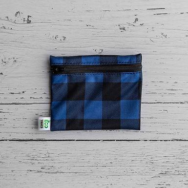 Reusable Mini Snack Bag - Plaid (Blue)