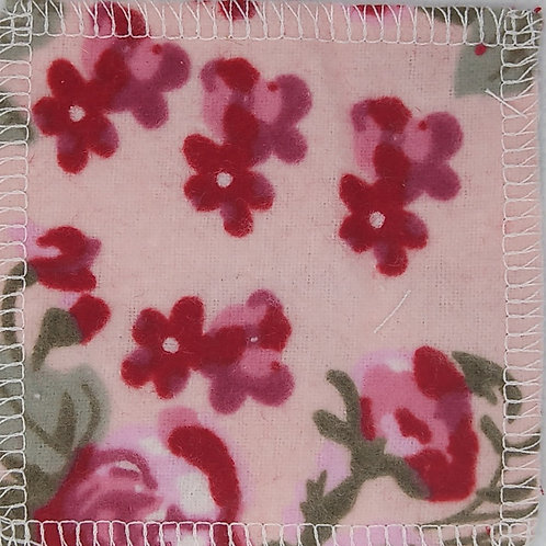 Makeup Remover Pads - Flowers on Light Pink Background