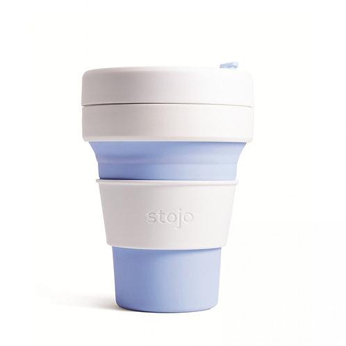 Foldable Pocket Mug 355 mL - White/Blue