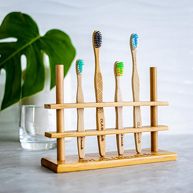 Bamboo toothbrushes holder (4)