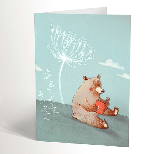 Reading Bear Card