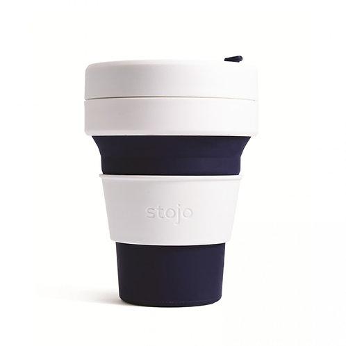 Foldable Pocket Mug 355 mL - White/Indigo