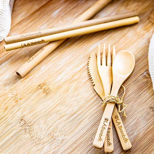Zero Waste Kit Utensils and Straw
