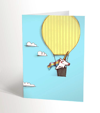 Traveling Unicorn Card
