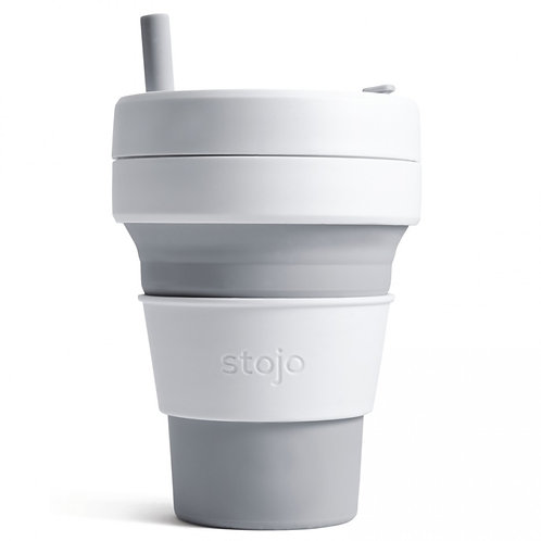 Foldable Pocket Mug 470 mL - White/Grey
