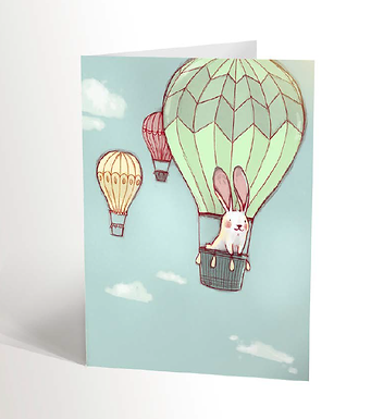Travelling Bunny Card