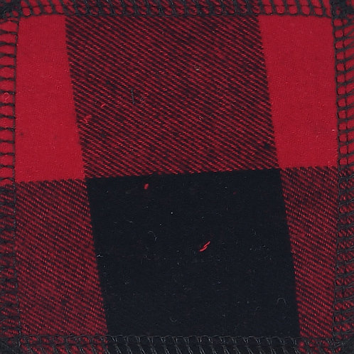 Makeup Remover Pads - Red & Black Plaid