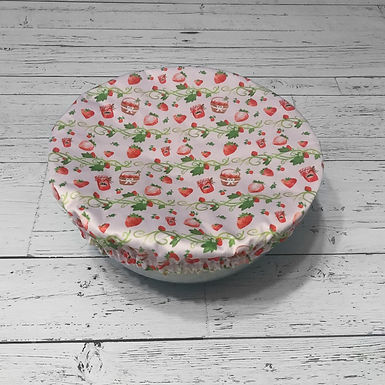 Bowl Cover - Strawberries (Small)