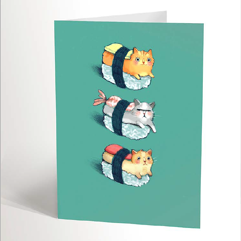 Sushis Cats Card