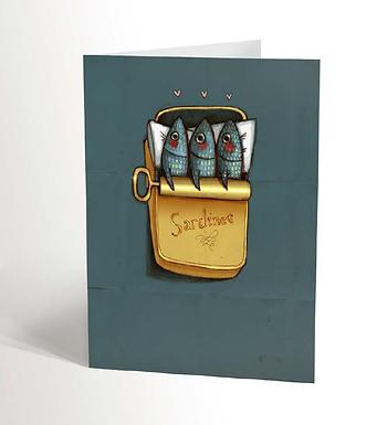 Sardines Love Card