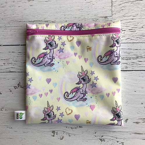 Reusable Sandwich Bag - Unicorn Dragon