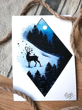 "Illustration - Little Forest 5""x7"""
