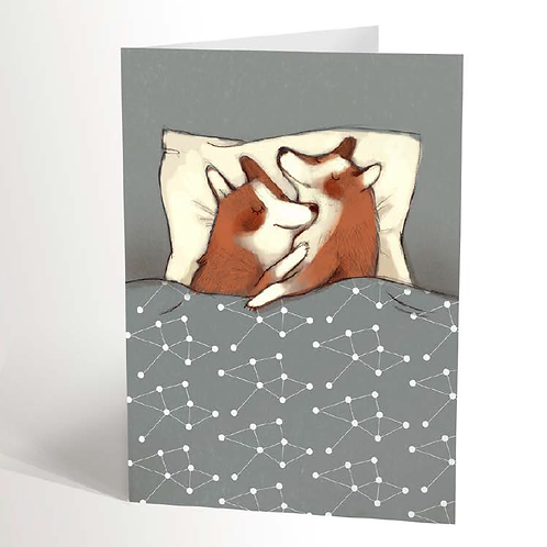 Corgis in Love Card