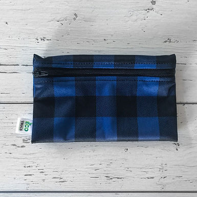 Reusable Snack Bag - Plaid (Blue)