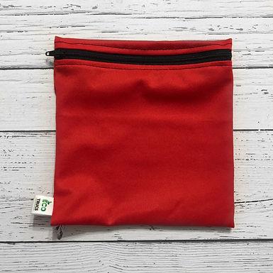 Reusable Sandwich Bag - Red & Black Zipper