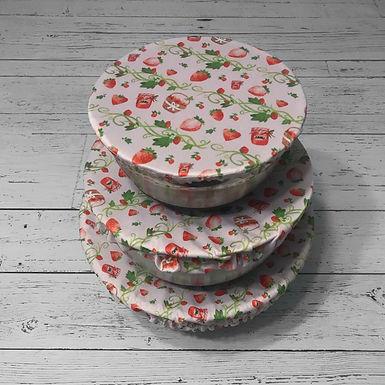 Bowl Cover - Strawberry Trio