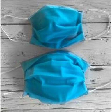 Duo of Reusable Masks - Aqua (Adult & Children)