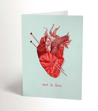 Wool Heart Card