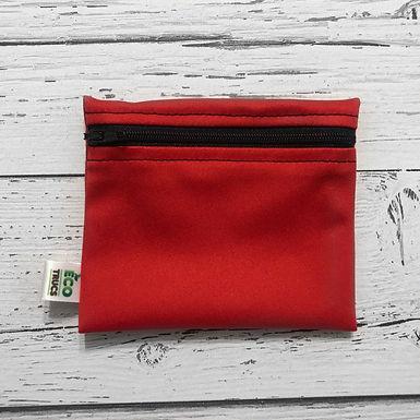 Reusable Mini Snack Bag - Red & Black Zipper