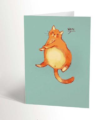 Lazy Cat Card