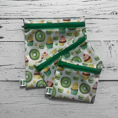Lunch Bag Trio - Green Donut