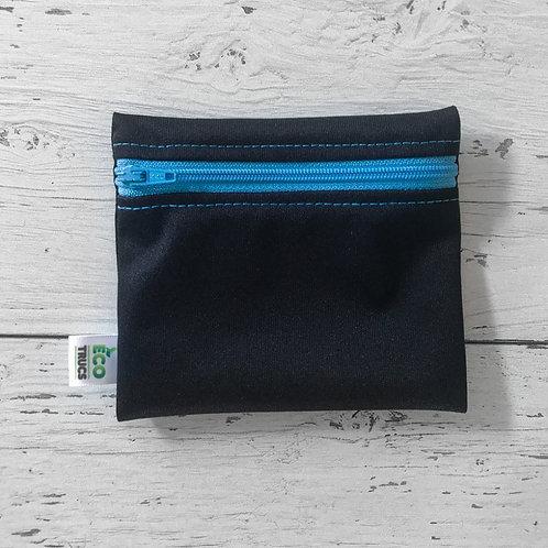 Reusable Mini Snack Bag - Black & Blue Zipper