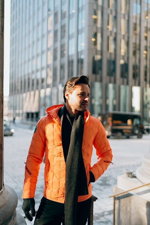 VEGAGOOZ Packable Orange Soda Men's Jacket