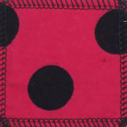 Makeup Remover Pads - Black Dots On Red Background