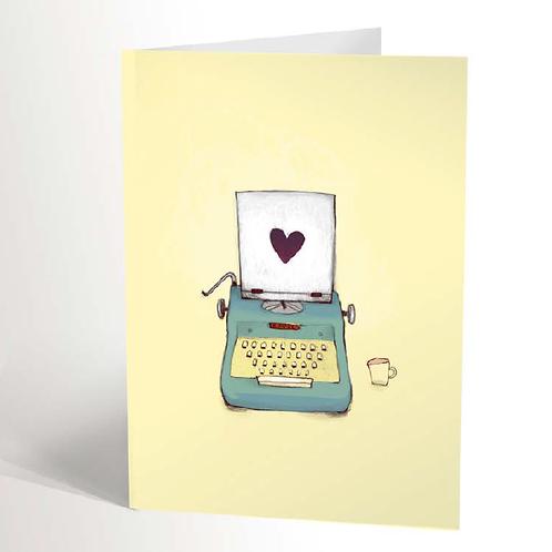The Typewriter Card