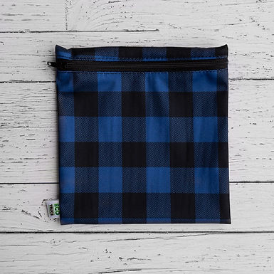 Reusable Sandwich Bag - Plaid (Blue)