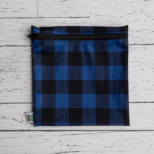 Reusable Sandwich Bag - Plaid (Blue)