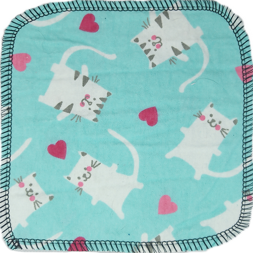 Washcloths, Tissues & Wipes - Cats & Hearts