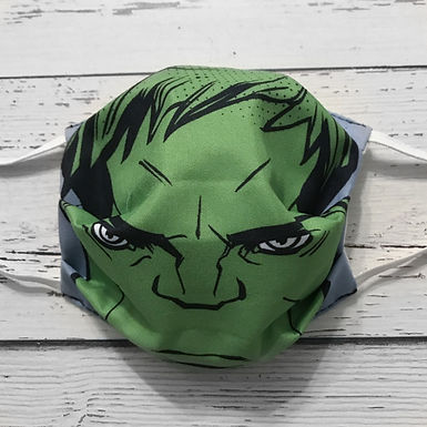 Reusable Face Mask - Hulk (Children)