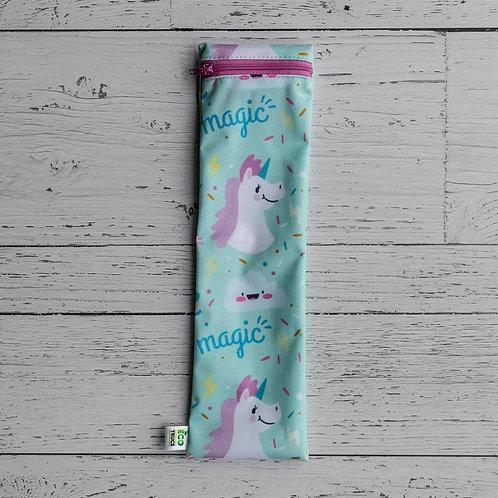 Straw/Utensil Bag - Magic Unicorn (Big)