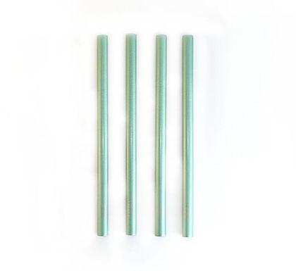 Shinny Green Smoothie Straws Kit
