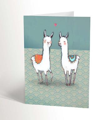 Two Llamas Card