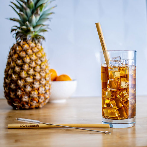 Bamboo Straws (Pack of 12)