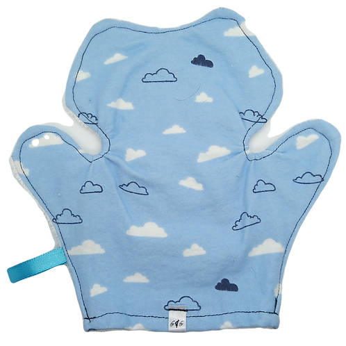 Bath Mitt Terrycloth - Clouds