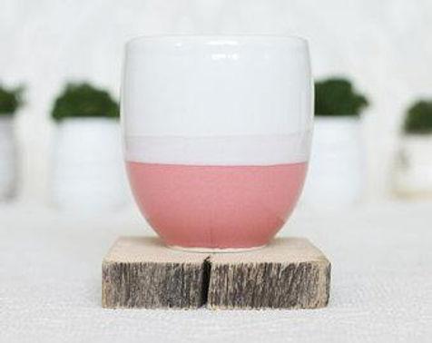Ceramic Candle - Pink Grapefruit (Wood Wick)