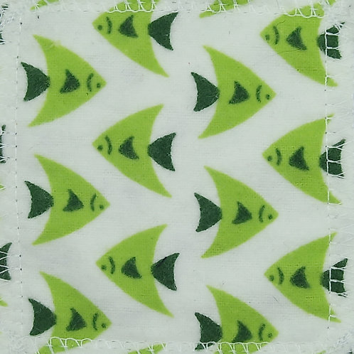 Makeup Remover Pads - Green Fishes