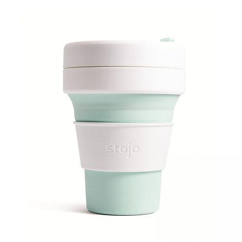 Foldable Pocket Mug 355 mL - White/Mint