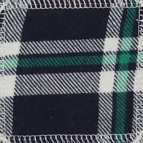 Makeup Remover Pads - Green & White Plaid