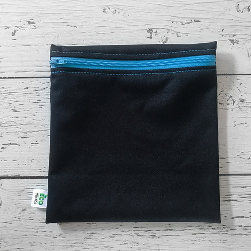 Reusable Sandwich Bag - Black & Blue Zipper