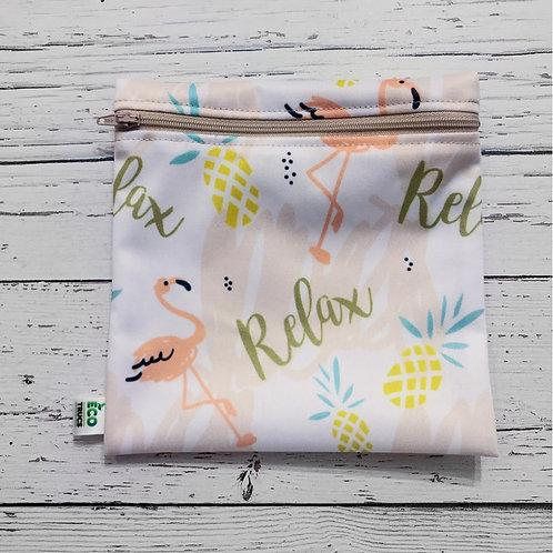 Reusable Sandwich Bag - Relax Flamingo
