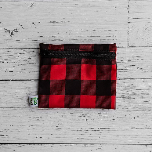 Reusable Mini Snack Bag - Plaid (Red)