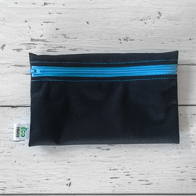 Reusable Snack Bag - Black & Blue Zipper