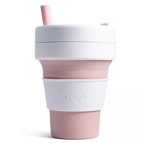 Foldable Pocket Mug 470 mL - White/Pink